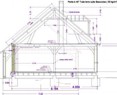 Exemples de r alisations maitre d 39 oeuvre dessin plan permis construire maison tude batiment - Plan de coupe maison ...