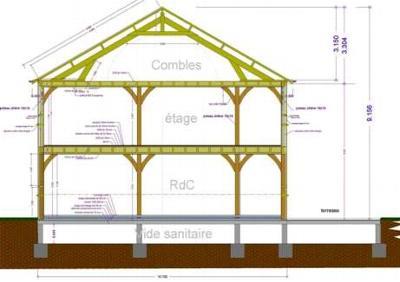 exemples de ralisations maitre doeuvre dessin plan permis construire maison tude batiment aube troyes10 - Plan Maison Structure Metallique