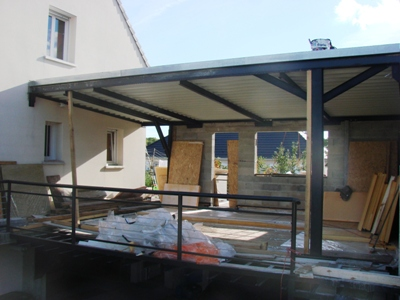 extension ossature bois et acier maitre d 39 oeuvre dessin plan permis construire maison tude. Black Bedroom Furniture Sets. Home Design Ideas