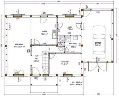 Exemples de r alisations maitre d 39 oeuvre dessin plan permis construire maison tude batiment - Comment faire un plan en coupe ...