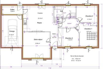 Maison st ly maitre d 39 oeuvre dessin plan permis for Main d oeuvre garage